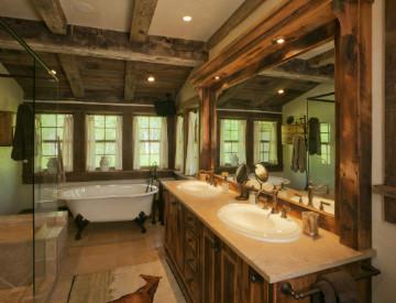 Mountain Rustic Bathroom Design Inspiration