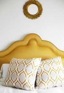 Yellow Upholstered Headboard | Home on the Range