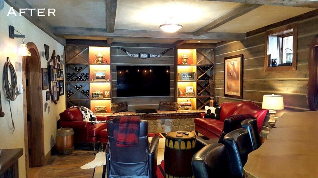 Rustic Mine Style Family Room | Home on the Range